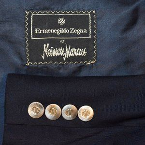 48L Tailored* Ermenegildo Zegna Dark Navy blazer